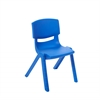 "14"" Resin School Stack Chair - Blue, set of 6"