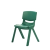 "14"" Resin School Stack Chair - Green, set of 6"