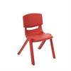"14"" Resin School Stack Chair - Red, set of 6"
