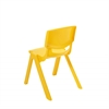 "14"" Resin School Stack Chair - Yellow, set of 6"