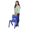 "ECR4Kids 16"" Resin School Stack Chair - Blue, set of 6"