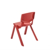 "16"" Resin School Stack Chair - Red, set of 6"