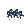 "ECR4Kids 18"" Resin Stack Chair - Navy, set of 5"