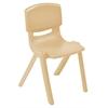 "ECR4Kids 18"" Resin Stack Chair - Sand, set of 5"
