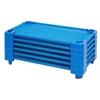ECR4Kids Stackable Kiddie Cot Standard RTA - Blue, set of 6