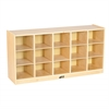 Birch 15 Cubby Tray Cabinet