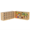 "ECR4Kids Fold & Lock 15 Tray Cabinet & 24"" Storage -CL"