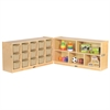 "Fold & Lock 15 Tray Cabinet & 24"" Storage -SD"