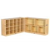 "ECR4Kids Fold & Lock 15 Tray Cabinet and 30"" Storage"