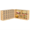"Fold & Lock 20 Tray Cabinet & 30"" Storage- CL"