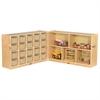 "Fold & Lock 20 Tray Cabinet & 30"" Storage- SD"