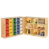 "Fold & Lock 25 Tray Cabinet & 36"" Storage- AS"