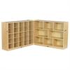 "ECR4Kids Fold & Lock 25 Tray Cabinet & 36"" Storage- SD"