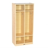 ECR4Kids Birch 2-Section Straight Coat Locker