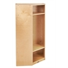 ECR4Kids Birch Corner Section Straight Coat Locker
