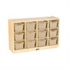 Birch 12 Cubby Tray Cabinet w/ Sand Bins
