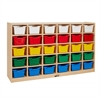 Birch 30 Cubby Tray Cabinet - Assorted