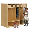 Birch Double-Sided 10-Section Coat Locker