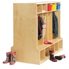 Birch Double-Sided 10-Section Locker w/ Bench