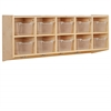 10-Section Hanging Coat Locker w/ Bins - CL