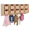 10-Section Hanging Coat Locker w/ Bins - SD