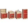 Colorful Essentials 4 Pc Kitchen Set - Red