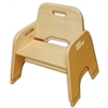 "6"" Stackable Wooden Toddler Chair - RTA, set of 2"