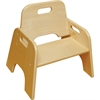 "ECR4Kids 8"" Stackable Wooden Toddler Chair -  RTA, set of 2"