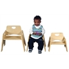 "ECR4Kids 10"" Stackable Wooden Toddler Chair - RTA, set of 2"