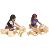 ECR4Kids Wooden Tunnels & Arches, 10-Piece Set