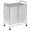 14 Drawer Mobile Organizer - White