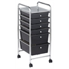 6 Drawer Mobile Organizer - Smoke