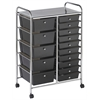 ECR4Kids 15 Drawer Mobile Organizer - Smoke