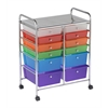 ECR4Kids 12 Drawer (8+4) Mobile Organizer - Assorted