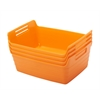 Small Bendi-Bin with Handles - Orange, set of 12