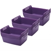 Small Bendi-Bin with Handles - Purple, set of 12