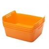 Medium Bendi-Bin with Handles - Orange, set of 12
