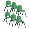 """10"""" Stack Chair - Matching Legs - GN, set of 6"""