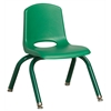"ECR4Kids 10"" Stack Chair - Matching Legs - GNG, set of 6"