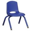 "ECR4Kids 12"" Stack Chair - Matching Legs - BLG, set of 6"