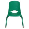 "12"" Stack Chair - Matching Legs - GNG, set of 6"