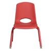 "ECR4Kids 12"" Stack Chair - Matching Legs - RDG, set of 6"