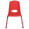 "ECR4Kids 14"" Stack Chair - Matching Legs - RD, set of 6"