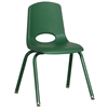 "ECR4Kids 16"" Stack Chair - Matching Legs - GNG, set of 6"