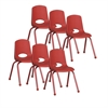 "16"" Stack Chair - Matching Legs - RD, set of 6"