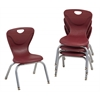 "12"" Contour Chair - Burgundy, set of 4"