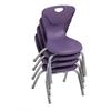 """12"""" Contour Chair - Eggplant, set of 4"""