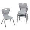 "12"" Contour Chair - Light Grey, set of 4"