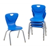 "14"" Contour Chair - Blue, set of 4"