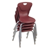 "14"" Contour Chair - Burgundy, set of 4"